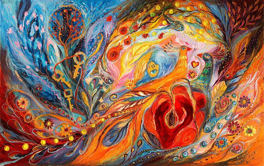 Jewish Art Prints Painting - The Rose Of East by Elena Kotliarker