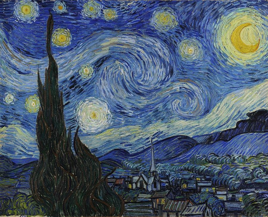 Van Gogh Starry Night Painting - The Starry Night by Vincent Van Gogh