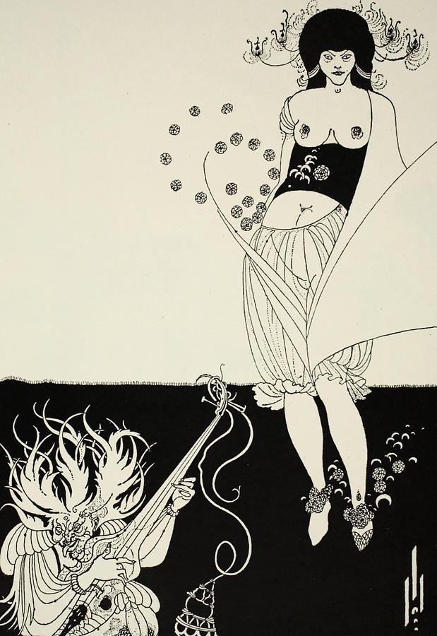 Aubrey Drawing - The Stomach Dance by Aubrey Beardsley