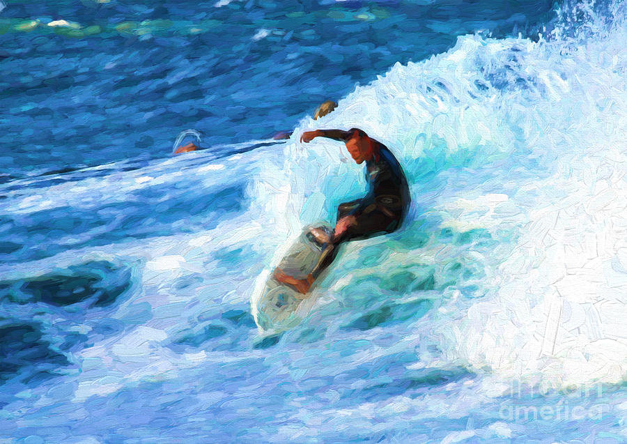 Surfer Photograph - The Surfer by Sheila Smart Fine Art Photography