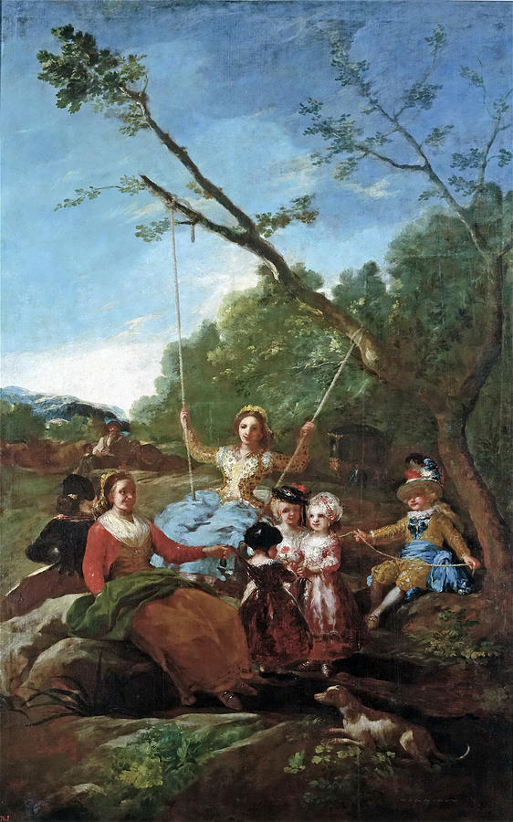 The Swing Painting By Francisco Goya - Francisco goya paintings