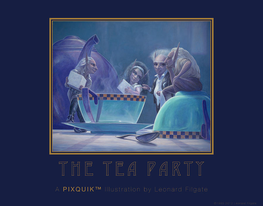 Tea Party Painting - The Tea Party by Leonard Filgate