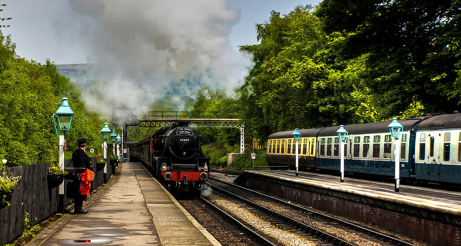 Station Photograph - The Train Arriving by Trevor Kersley