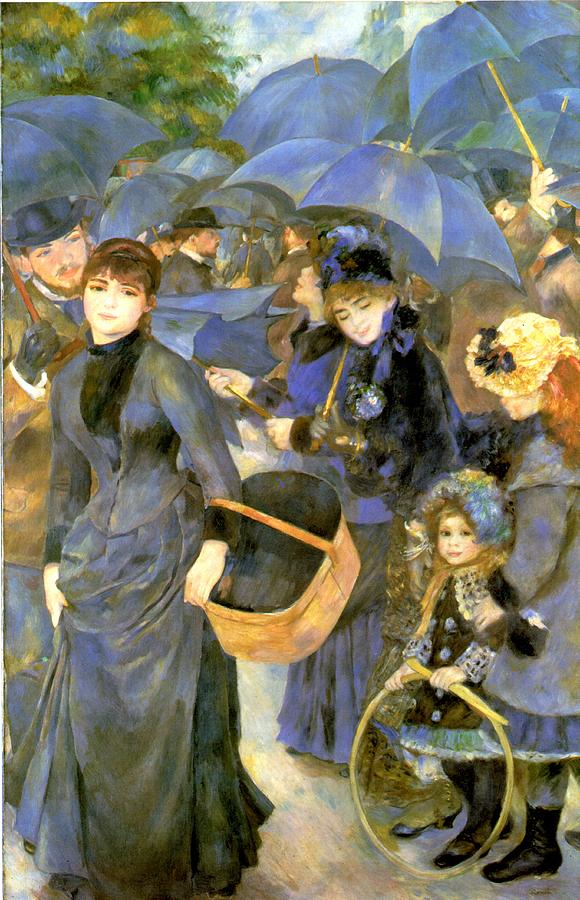 Pierre Auguste Renoir Digital Art - The Umbrellas by Pierre Auguste Renoir