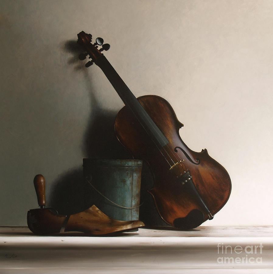 Violin Wood Painting