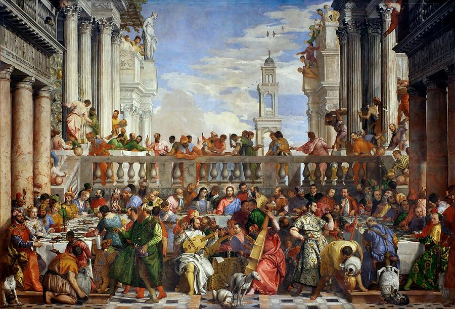 1563 Painting - The Wedding At Cana by Paolo Veronese