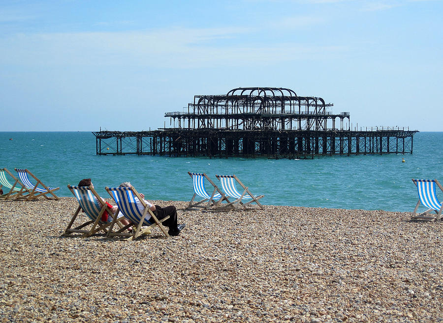 Abandoned Photograph - The West Pier Brighton by Mike Lester