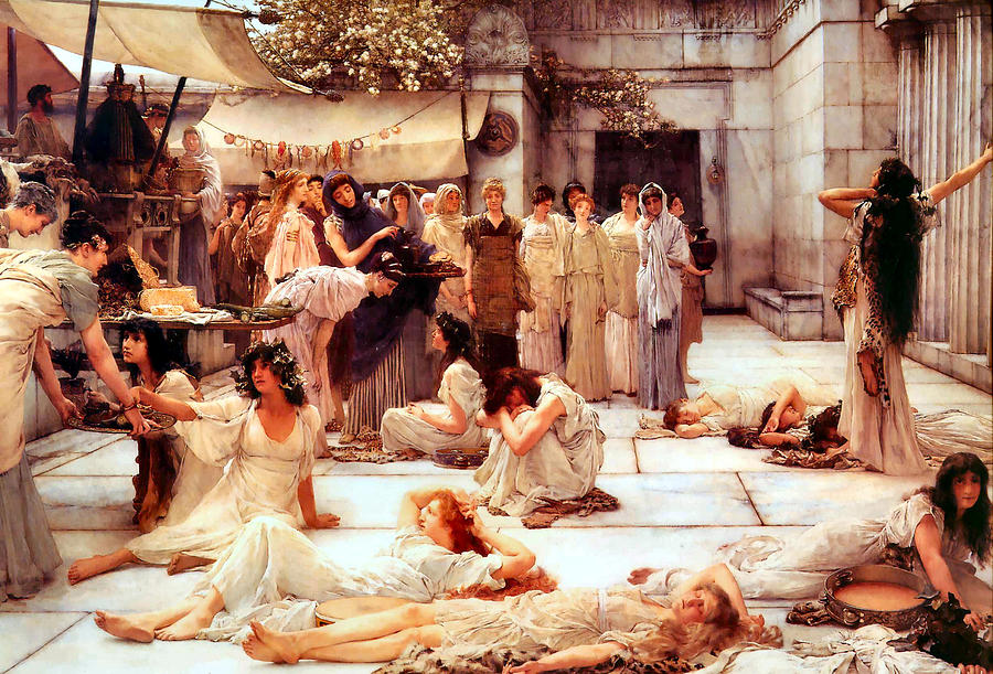 Sir Lawrence Alma-tadema Digital Art - The Women Of Amphissa by Sir Lawrence Alma Tadema