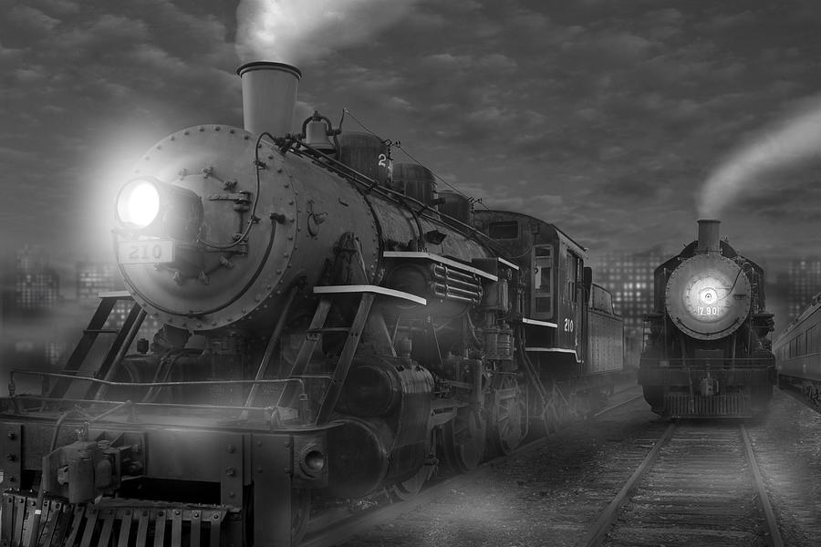 Transportation Photograph - The Yard II by Mike McGlothlen