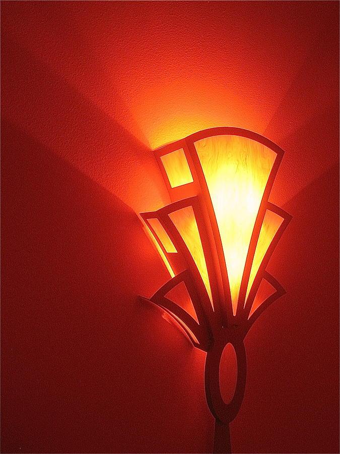 Theater Homage Art Deco Lighting Fixture Fox Tucson Tucson Arizona 2006 Grand Reopening Photograph by David Lee Guss