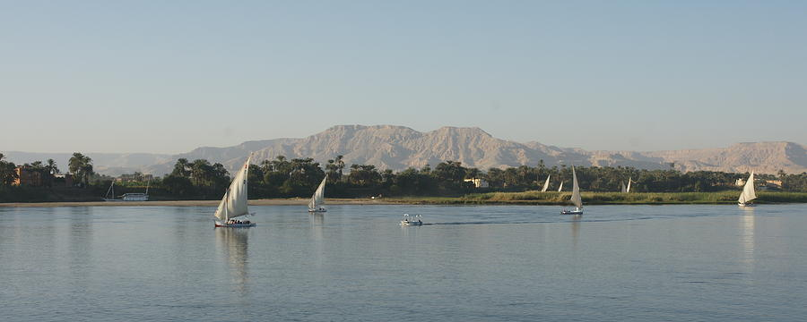Nile Photograph - Thebes West by Olaf Christian