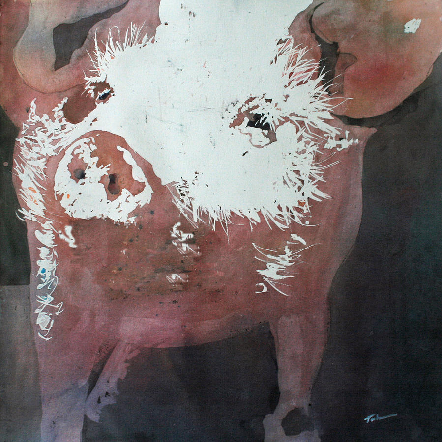 Pouring Painting - This Little Piggy by Tammy Tatum