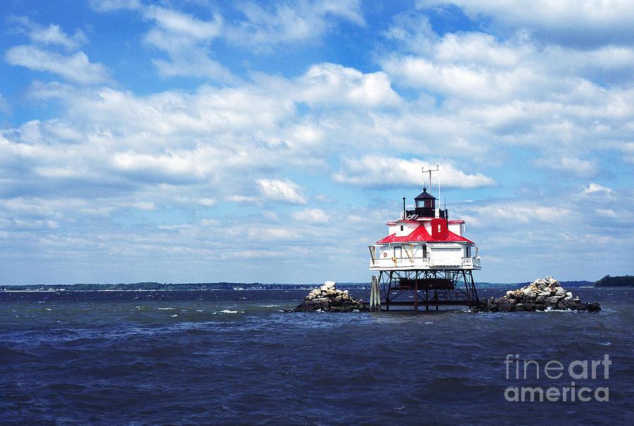 Chesapeake Bay Photograph - Thomas Point Shoal Lighthouse by Thomas R Fletcher