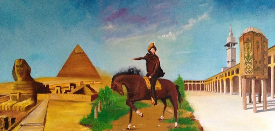 Egypt Painting - Three Cities by Rami Besancon