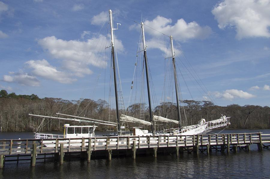 Three Mast Sailboat by Ralph Jones