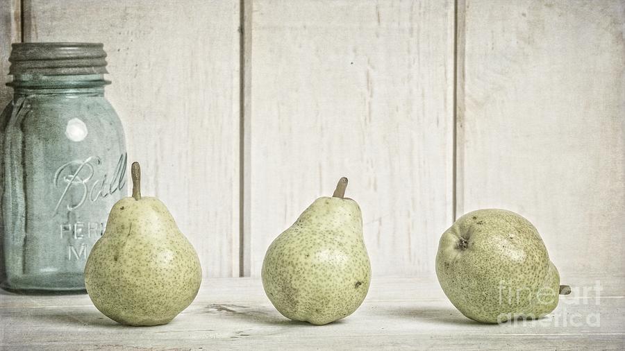 Pear Photograph - Three Pear by Edward Fielding