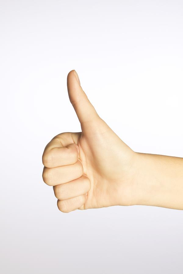 Caucasian Appearance Photograph - Thumbs Up by Alan Marsh