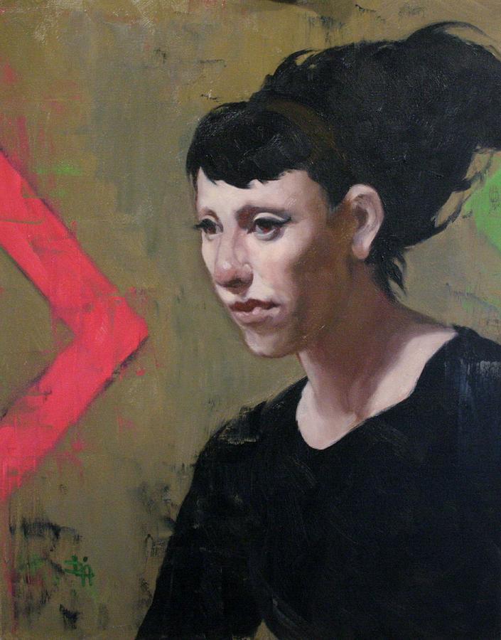 Woman Painting - Thursday by Deborah Allison