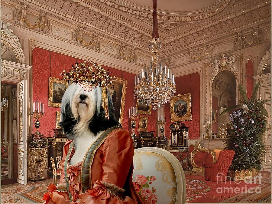 Tibetan Terrier Painting - Tibetan Terrier Art Canvas Print by Sandra Sij