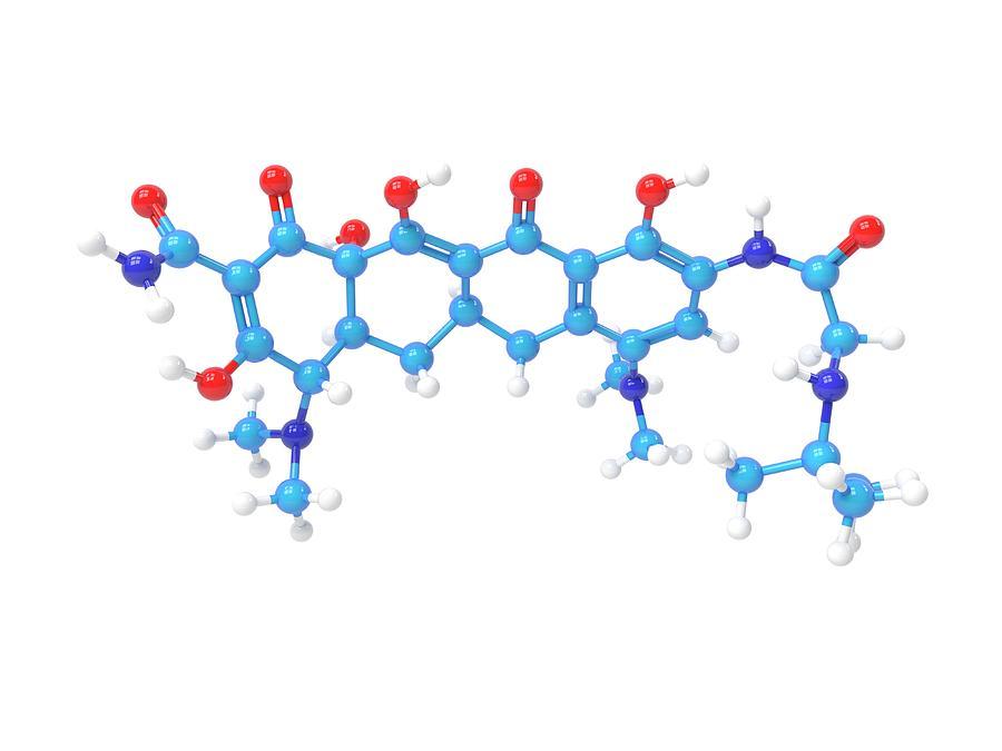 Antibacterial Photograph - Tigecycline Antibiotic Molecule by Indigo Molecular Images