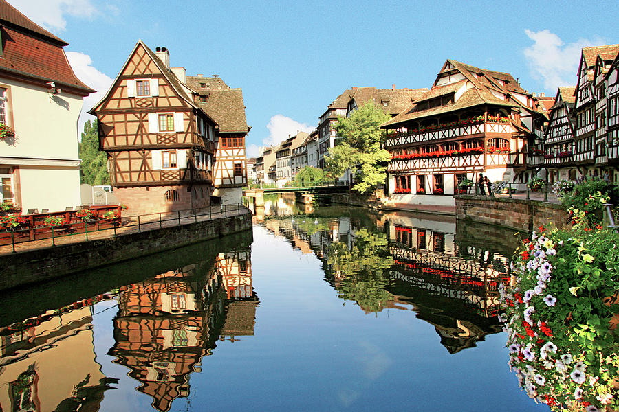 Accommodation Photograph - Timbered Buildings, La Petite France by Miva Stock