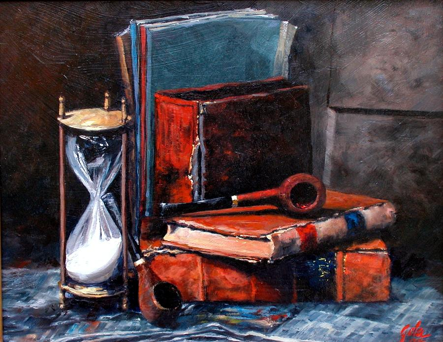 Still Life Painting - Time and Old Friends by Jim Gola