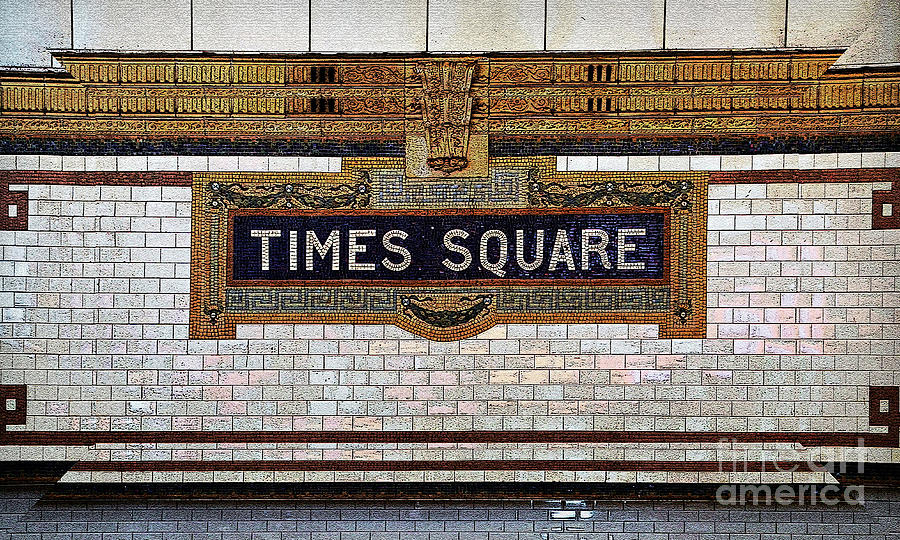 Times Square Tile Mosaic Subway Sign Photograph By Kerry Gergen