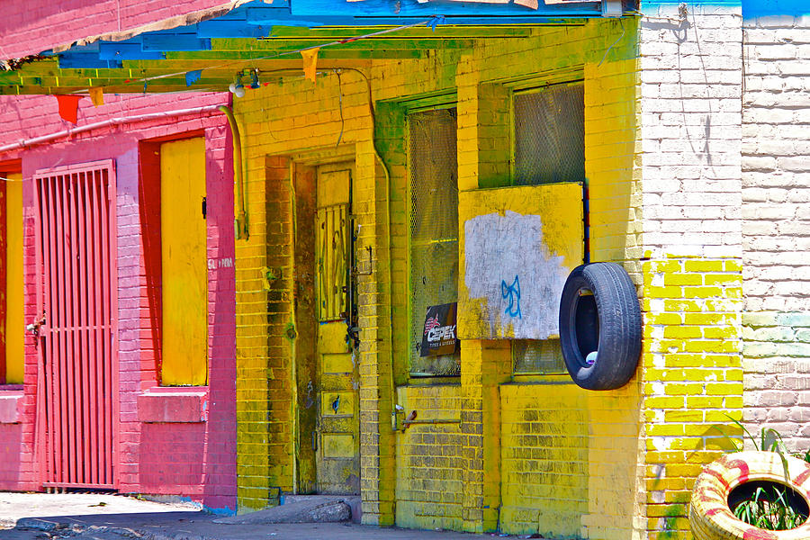 John Illingworth Photograph - Tire Shop by John Illingworth