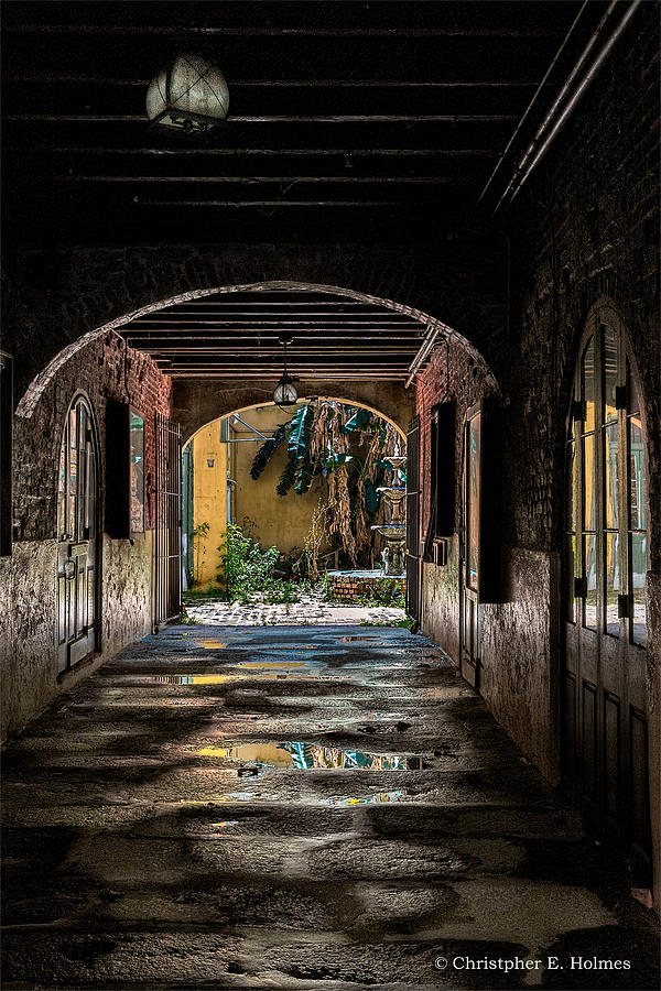 Structures Photograph - To The Courtyard by Christopher Holmes