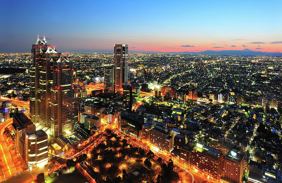 Tokyo City At Twilight Photograph by Japan