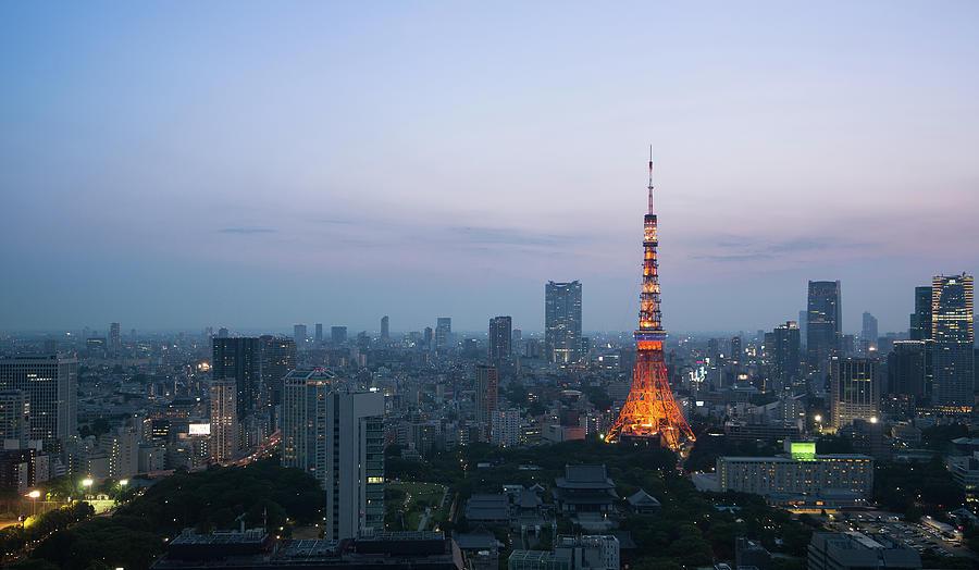 Tokyo Tower At Dusk Photograph by Benjamin Torode
