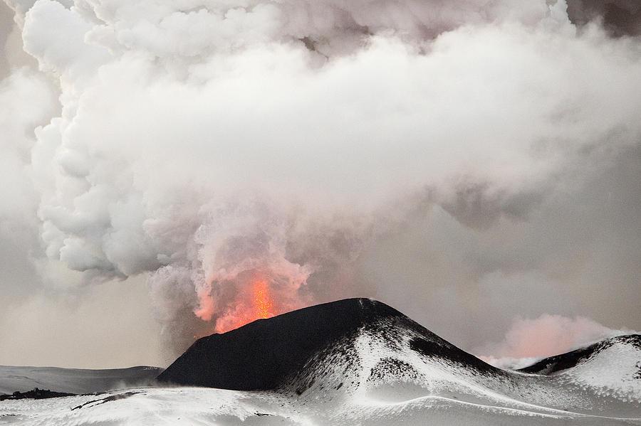 Tolbachik Volcano Erupting Kamchatka Photograph by Sergey Gorshkov