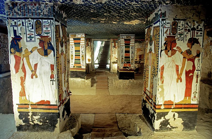 Hieroglyph Photograph - Tomb Of Queen Nefertari by Patrick Landmann/science Photo Library
