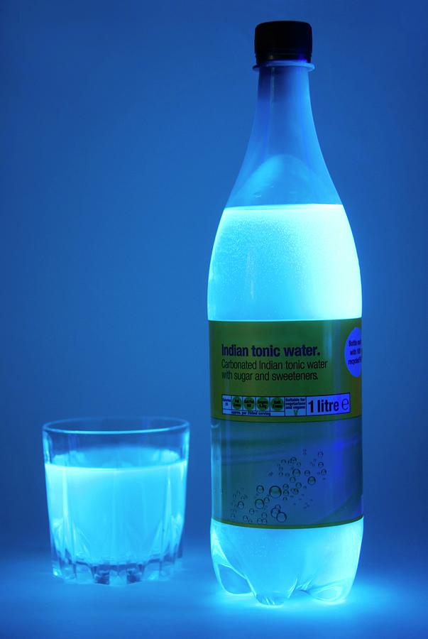 Drink Photograph - Tonic Water In Uv Light 1 by Cordelia Molloy/science Photo Library