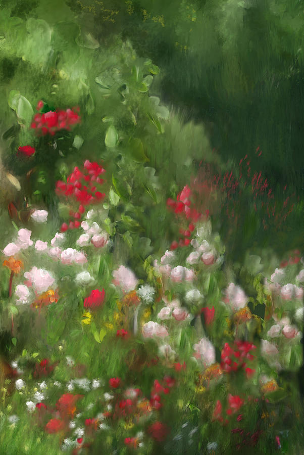 Florals Mixed Media - Topanga Canyon Afternoon by Karen Sperling
