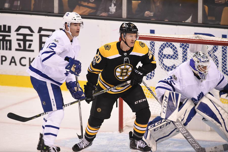 Toronto Maple Leafs V Boston Bruins Photograph by Steve Babineau