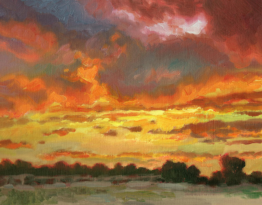 Sunset Painting - Touch Of Gold by Kevin  McCain