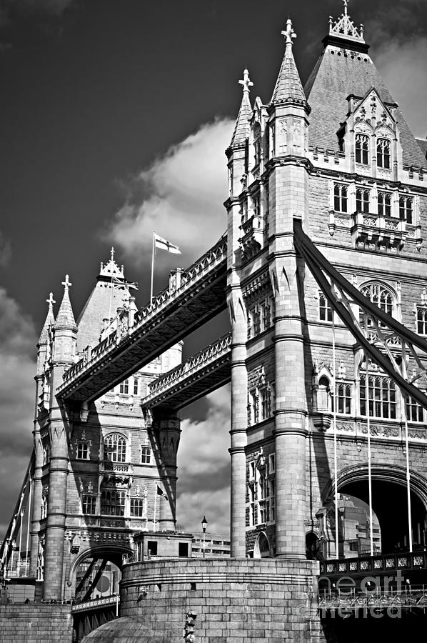 Tower Photograph - Tower Bridge In London by Elena Elisseeva