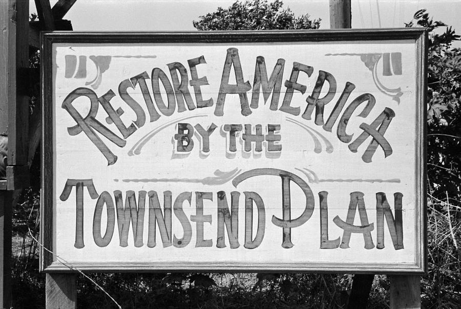 1939 Photograph - Townsend Plan, 1939 by Granger