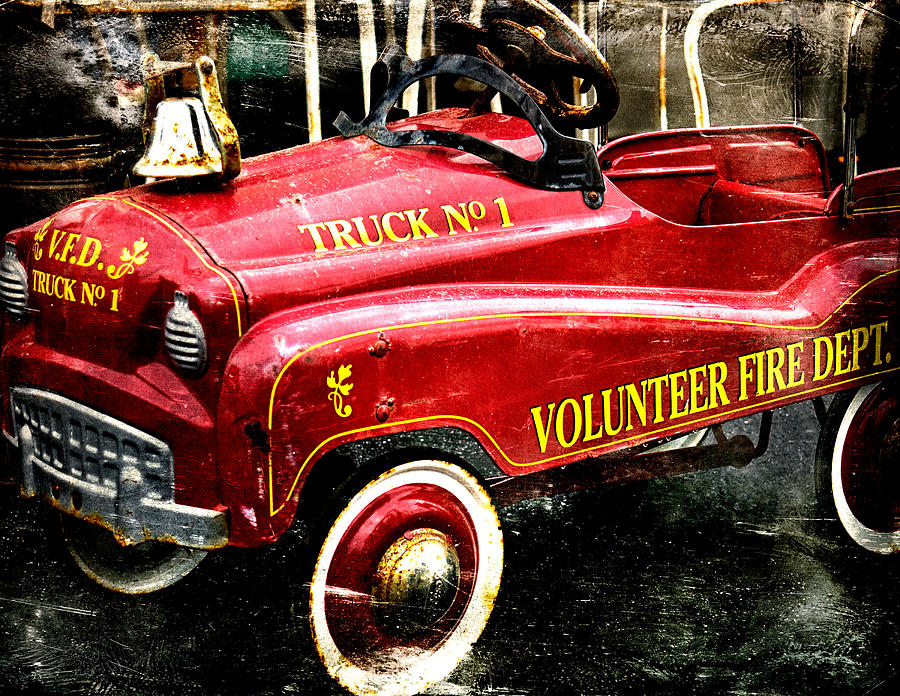 Flea Market Finds Photograph - Toy Fire Truck by Bobbi Feasel