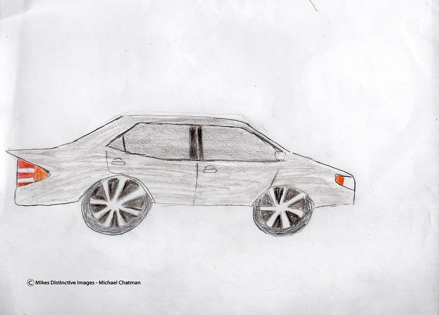 Toyota Drawing   Toyota Camry 2016 By Michael Chatman