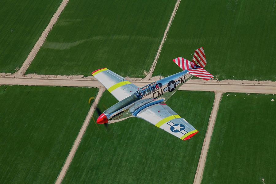 Tp-51c Mustang In Flight Over Arizona Photograph by Scott Germain/stocktrek Images