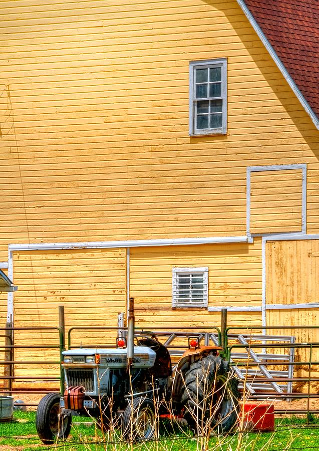Tractor And Barn 14634 Photograph