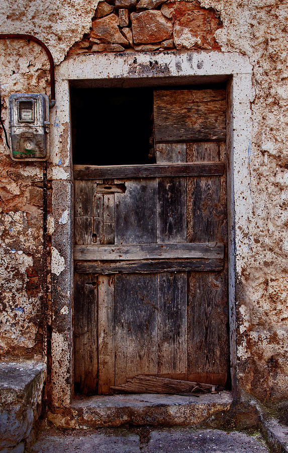 Old Photograph - Traditional Door by Emmanouil Klimis