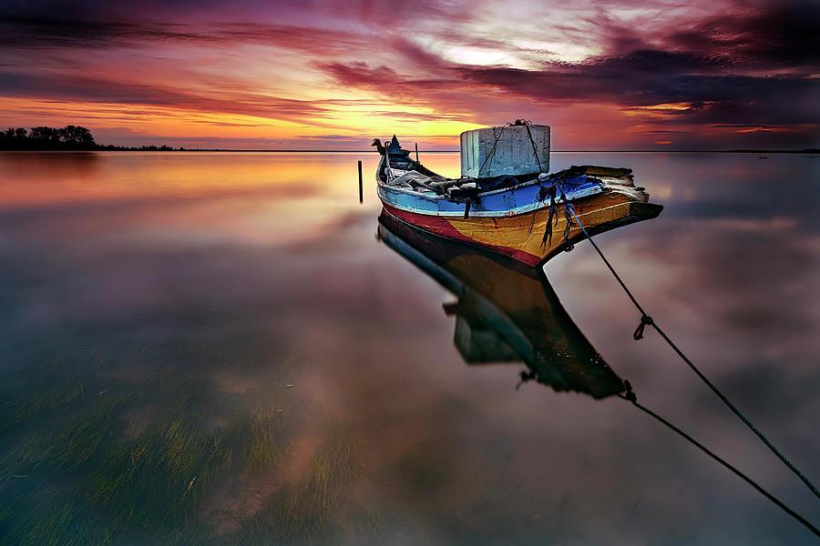 Traditional Kelantan Fishing Boat Photograph by Tuah Roslan