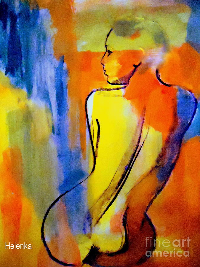 Nude Figures Painting - Tranquility by Helena Wierzbicki