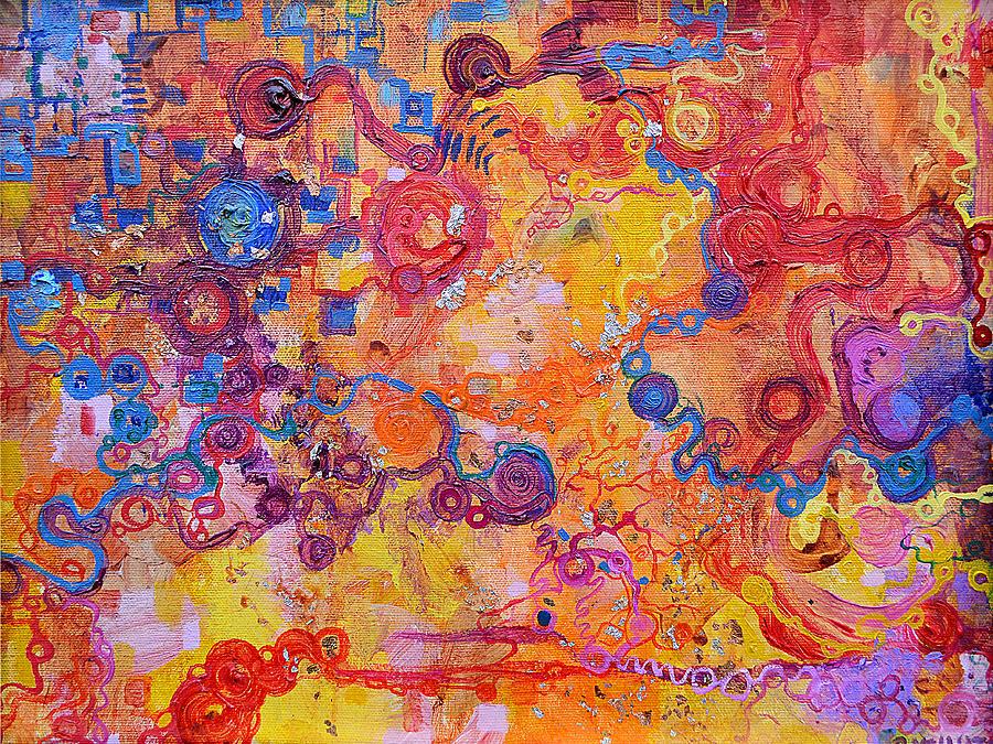 Biosensing Painting - Transduction by Regina Valluzzi