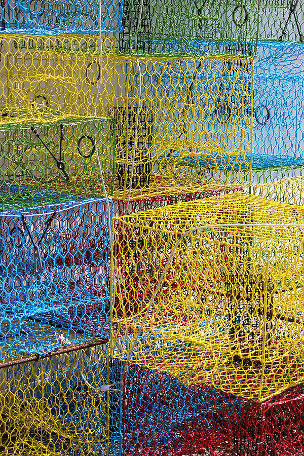 Crab Pots Photograph - Crab Pots by John Illingworth