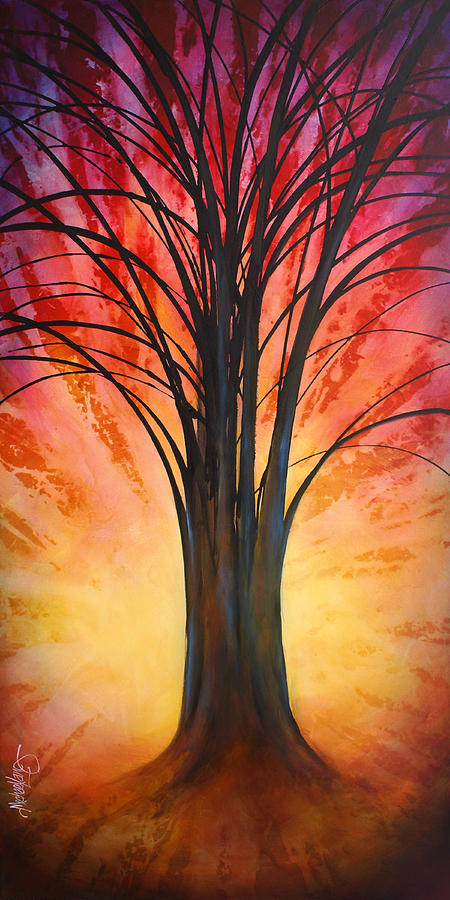 Landscape Painting - tree Of Life by Michael Lang
