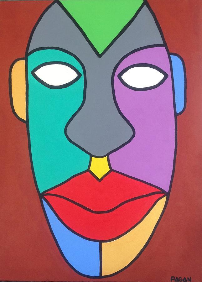 Tribal Painting - Tribal Pop by Eddie Pagan